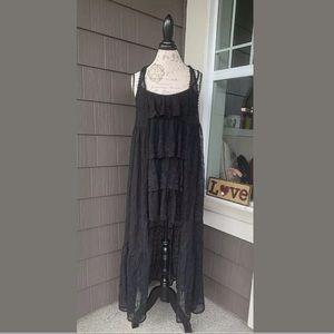 NWT COCO + CARMEN Black Lace Cardigan Vest Duster